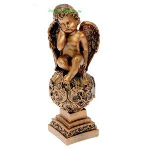 Ангел на шаре с узором / бронза