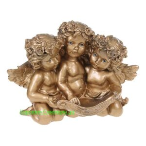 Три ангела с книгой / бронза - полистоун