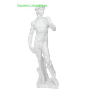 """Статуя """" Давид """" / белый"""