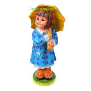 Девочка с зонтиком / цвет МИКС - полистоун