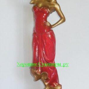 Девушка с розой / бронза МИКС