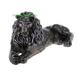 Лев на отдыхе ( смотрит в лево ) / бронза