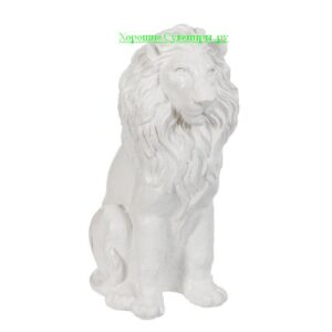 Лев сидя / белый