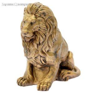 Лев сидя малый / бронза