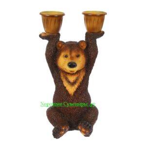 Медведь с кашпо / цветной