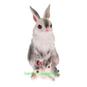Зайка с зайчатами - полистоун