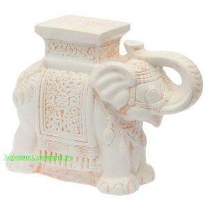 Индийский слон - подставка / бежевый