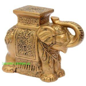 Индийский слон - подставка / бронза - полистоун