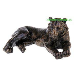 Тигр лежа / бронза