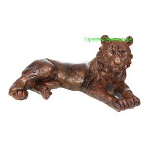 Тигр лежа / медь